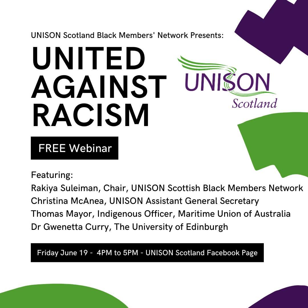 United Against Racism: Free Online Webinar, Black Members' Network