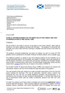 thumbnail of 2020-06-16 COVID19 CNO CMO letter re use of face masks and face coverings Health Boards and Scottish Care FINAL