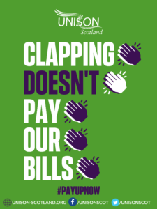 A4 green clapping poster