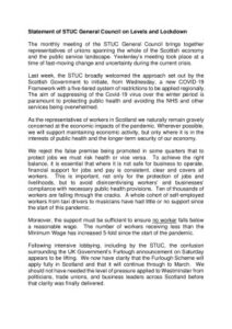 thumbnail of General Council Statement on Levels and Lockdown