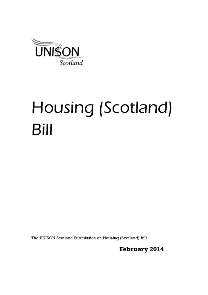 Housing (Scotland) Bill
