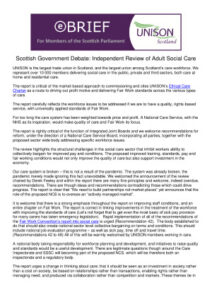 thumbnail of MSP Briefing on Independent Review of Adult Social Care