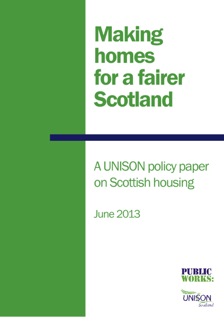 Making Homes for a Fairer Scotland