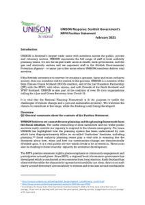 thumbnail of NPF4 Consult Response UNISON