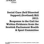 Social Care (Self Directed Support) (Scotland) Bill