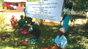 Malawi health staff thank UNISON
