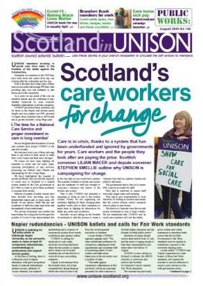 Scotland in UNISON August 2020